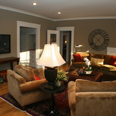 Eclectic Family Room by Classic Interior Design