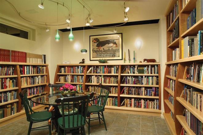 Eclectic Family Room by HartmanBaldwin Design/Build