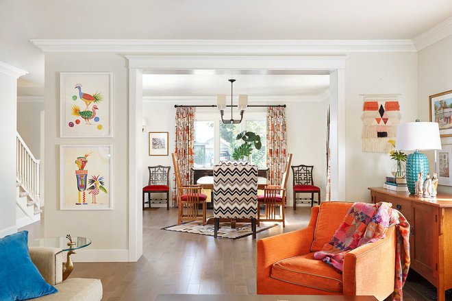 Eclectic Family Room by PepperJack Interiors