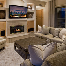 Eclectic Family Room by Schwab Luxury Homes and Interiors