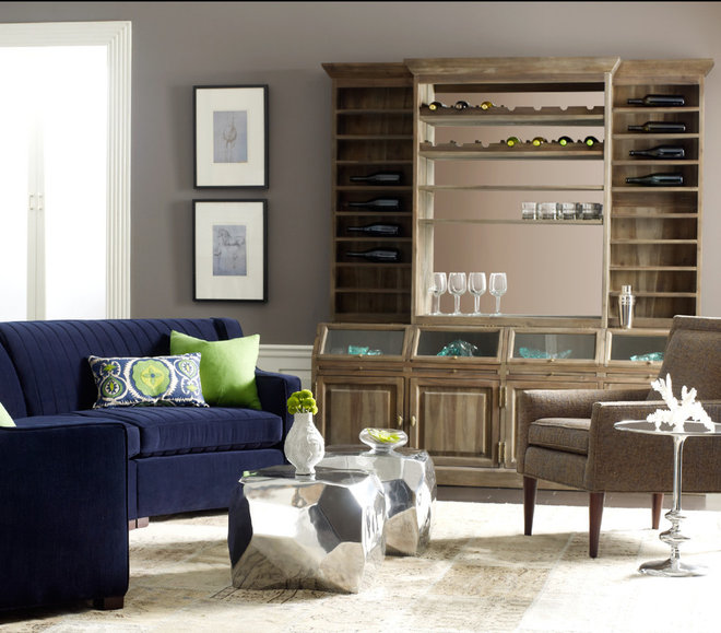 Eclectic Family Room by Zin Home