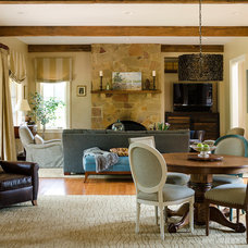 Traditional Family Room by Kathy Corbet Interiors