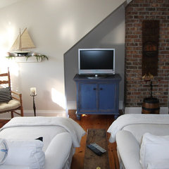 eclectic media room Seaside TV loft