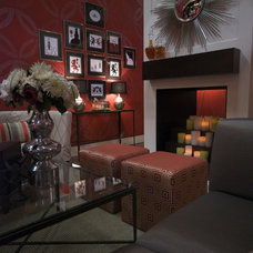 Eclectic Family Room Eclectic Media Room