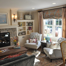Traditional Family Room by Woodstone Renovation LLC