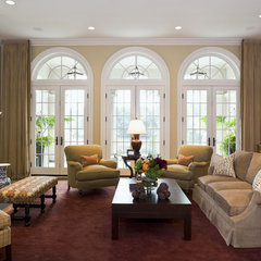 mediterranean family room by Erotas Building Corporation