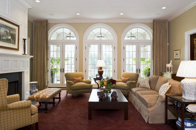 Mediterranean Family Room by Erotas Building Corporation