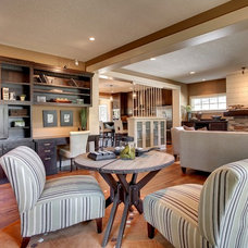 Contemporary Family Room by Bruce Knutson Architects