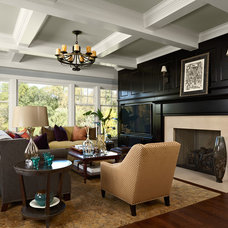 Transitional Family Room by mint
