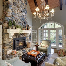 Traditional Family Room by KBI Interior Design Studios