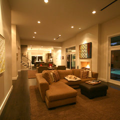 modern family room by John Lively & Associates