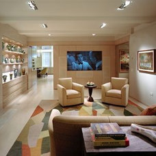 Modern Family Room by Edward I. Mills & Associates, Architects PC