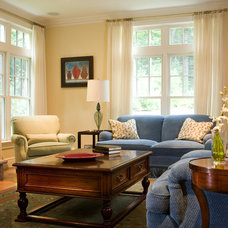 Traditional Family Room by Edwina Drummond Interiors