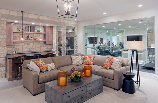 Transitional Family Room by Scott Christopher Homes/Surpass Renovations