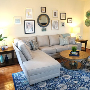 Example of a transitional family room design in Baltimore