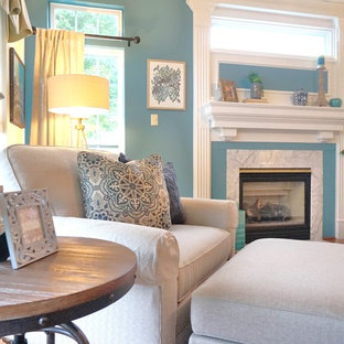 Inspiration for a transitional family room remodel in Baltimore