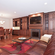 Traditional Family Room by DDK Kitchen Design Group