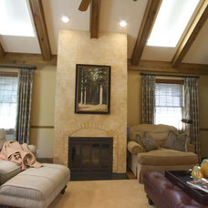 Traditional Family Room by Interiors by Mary Susan
