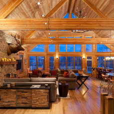 Rustic Family Room by E. B. Mahoney Builders, Inc.