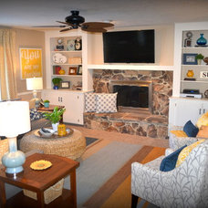 Transitional Family Room by Fluff Interior Design