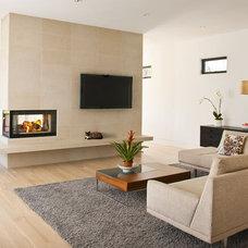 Contemporary Family Room by Ellen Grasso & Sons, LLC