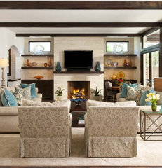 contemporary family room by Ellen Grasso & Sons, LLC