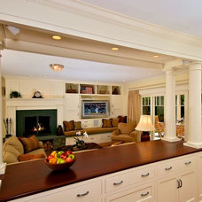 Traditional Family Room by Michael McCloskey Design Group