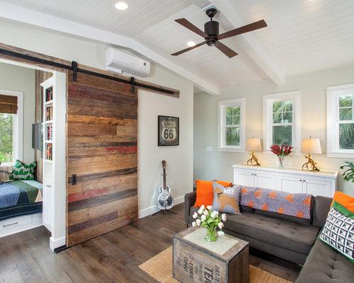 SaveEmail - Reclaimed Wood Barn Door Houzz