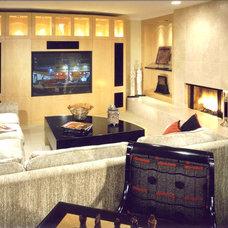 Contemporary Family Room by Berni Greene, ASID, CID, IIDA