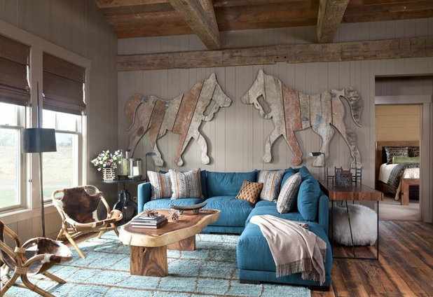 Rustic Family Room by Carter Kay Interiors