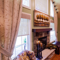 Transitional Family Room by One Stop Decorating Center