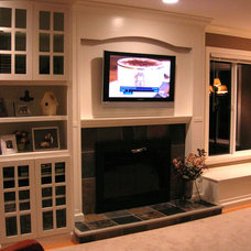 Craftsman Family Room by Aaron Larson