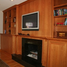 Modern Family Room by Superior Woodcraft, Inc.