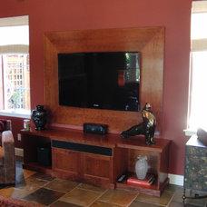 Contemporary Family Room by Diadem Finish Carpentry