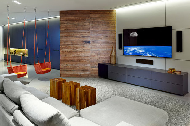 Contemporary Family Room by SW designs