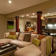 Contemporary Family Room by Gavin Design