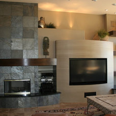 Contemporary Family Room by Ellis Design Group, LLC