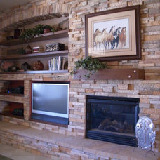 Traditional Family Room by Designs By Robyn, LLC