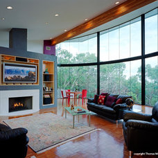 Contemporary Family Room by CG&S Design-Build
