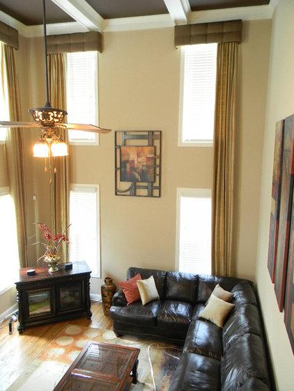 Contemporary Family Room by Erika Ward - Erika Ward Interiors