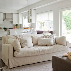 Transitional Family Room by The Cross Interior Design