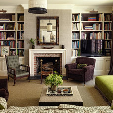 Transitional Family Room by Studio 511