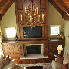 Traditional Family Room by Sketches, an interior view LLC