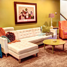 Midcentury Family Room by Mindi Freng Designs