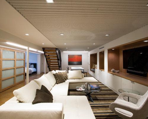 wohnzimmer mit korkboden und multimediawand ideen design bilder houzz. Black Bedroom Furniture Sets. Home Design Ideas