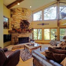 Traditional Family Room by Liston Construction Company, Inc.