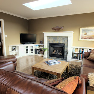 75 Family Room with a Corner TV Design Ideas Stylish Family Room