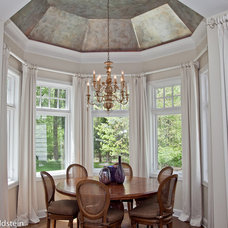 Transitional Family Room by Hudson Blau Designs