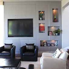 Contemporary Family Room by Grace Blu Designs, Inc.