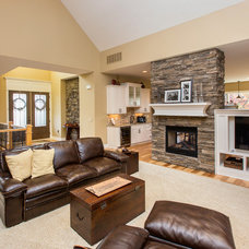 Transitional Family Room by Bella Homes